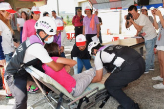 新屋區深圳里106年防災社區成果演練。