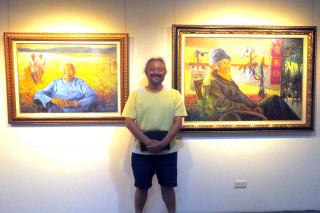 陳守在三鄉景情畫展即日起在新營文化中心展出。