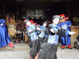 廣靈神童今年化身可愛殭屍參加百鬼夜行祭活動。