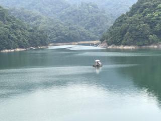 北區水資源局二十一開會商討天鴿颱風來襲的應變之道,目前水庫水位達標高二四0公尺,水量充足。(記者陳寶印攝)
