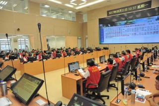 天鴿颱風即將來襲,高雄市政府21日召開災害防救準備會議。(圖/記者郭文君攝)