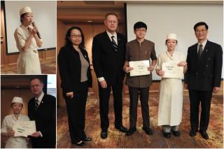 聖母專校學生陳穎榕校外實習表現優異獲獎勵。(圖/聖母專校提供)