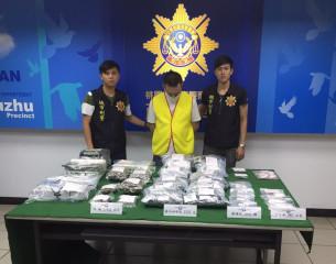 蘆竹警方查獲鄭姓嫌起出價值700多萬元的各種毒品。