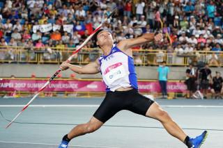 鄭兆村就在世大運中投擲出91.36公尺奪下金牌,刷新亞洲紀錄