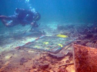 水下考古遺址現況拍照記錄。(圖/文化部文化資產局提供)