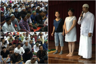 印尼勞工和新住民聚集南方澳共度宰牲節。(圖/宜蘭縣政府勞工處提供)