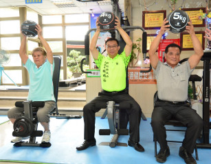 健身不再是年輕人專利 二水鄉第1個社區「不老健身房」成立