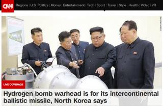 北韓領導人金正恩視察核子武器研究所。(圖/翻攝自CNN官網,http://edition.cnn.com/)