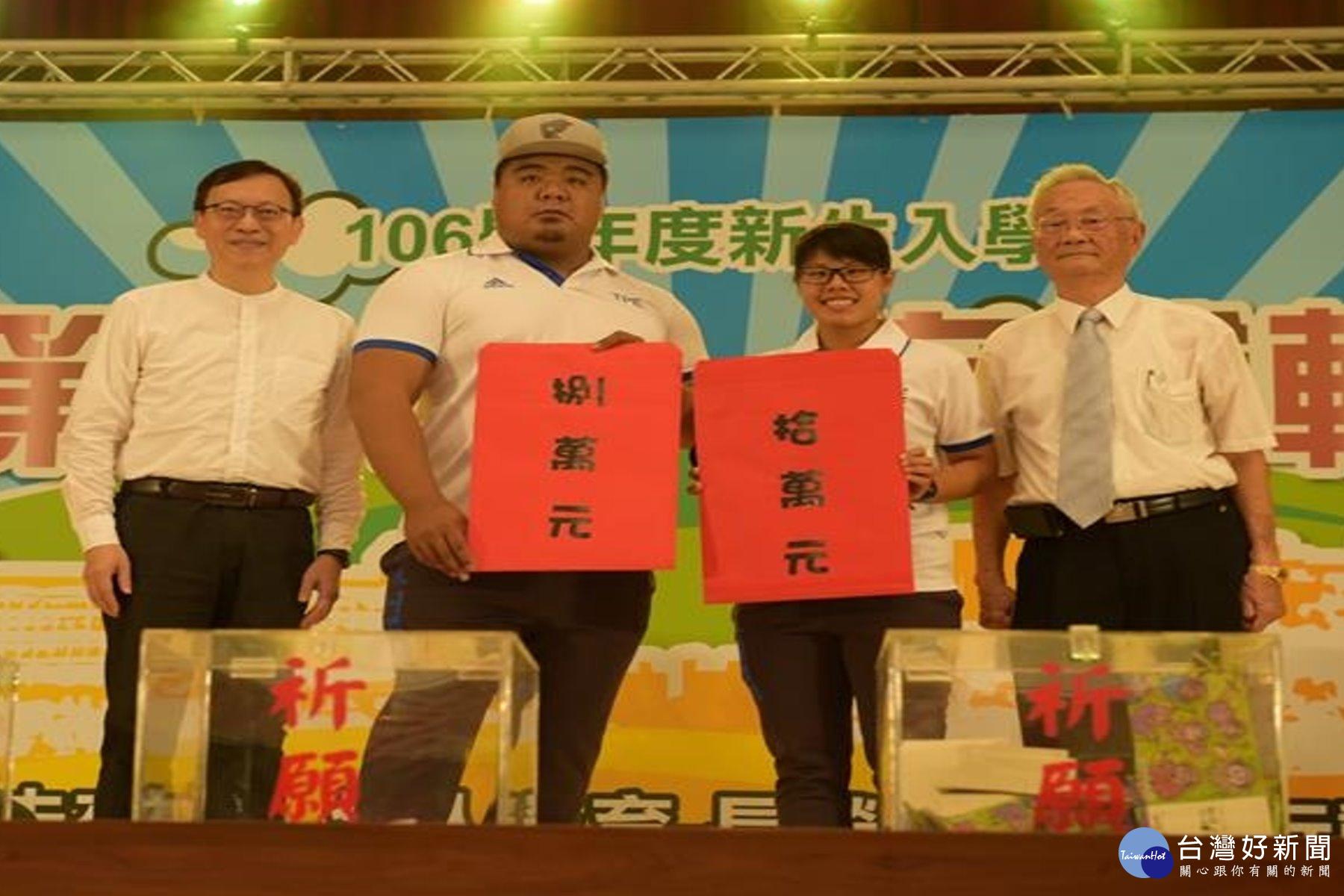 梁宣旼、陳士杰世大運奪牌 長榮大學頒18萬獎學金