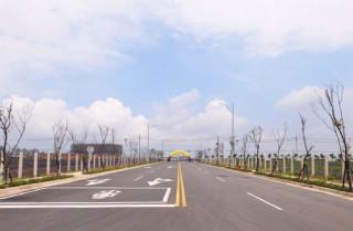 龜山區機場捷運A7站地區區段徵收公共工程竣工。