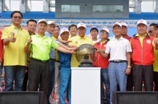 桃園市長鄭文燦出席「桃園市國民體育日—大家瘋運動」開幕典禮。