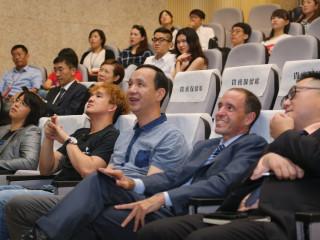 市長朱立倫10日出席「青年邁向新經濟新創高峰論壇」。(圖/記者黃村杉攝)