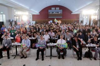 副總統陳建仁出席「青年好政高峰會」時表示,公共政策的參與需要年輕人,年輕人是好點子、好動力來源,也是好的諮詢對象。(圖/總統府Flickr)