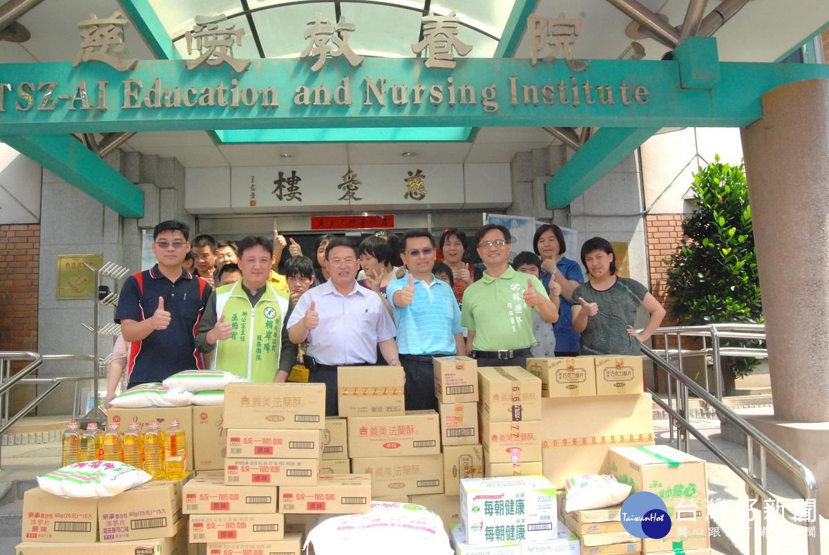 以行動支持弱勢團體 彰市清潔隊捐贈普渡物資給慈愛教養院