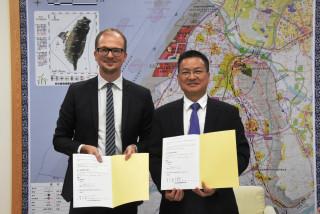 發展離岸風電稅留彰化 魏明谷與CIP執行長簽訂合作備忘錄