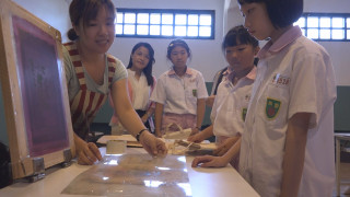 學童挑戰版畫布袋 文創製作體驗
