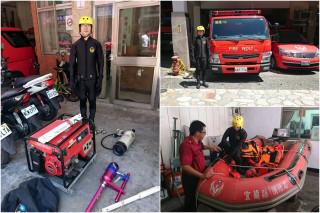 宜蘭縣消防局全面進行防颱整備。(圖/宜蘭縣消防局提供)