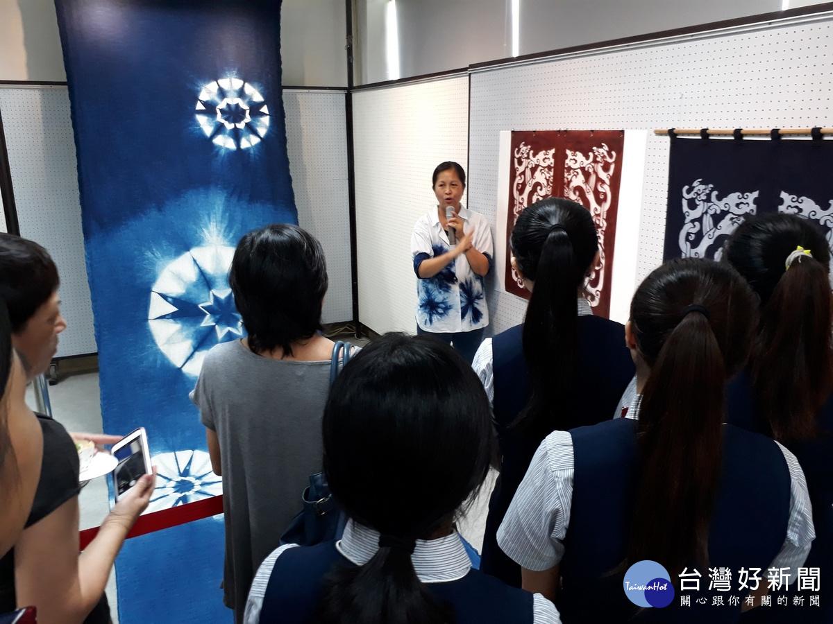 大葉大學系主任吳汶錡 纖維藝術作品將於水里商工展出