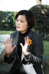 向賴清德提出十問,點出台灣目前困境的立委張麗善。(記者劉晶晶拍攝)