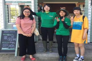 長榮大學應用日語學系學生陳若嘉、林映君,利用暑假期間,前往日本北海道惠庭市銀河庭園實習。