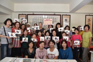 黃秀霜之友會舉辦棉紙撕畫創作研習。