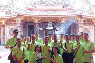 郭玟成委員帶領台灣神奇團隊在台南南鯤鯓代天府開講。