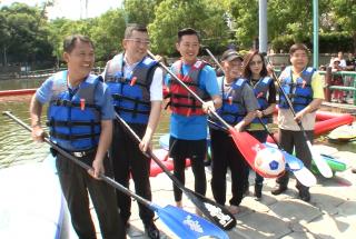 重現青草湖風光 水域遊憩中心開幕