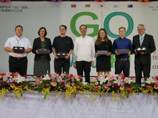 市長朱立倫20日親自出席國際青年GO.創新專案設計與製作論壇開幕典禮。(圖/記者黃村杉攝)
