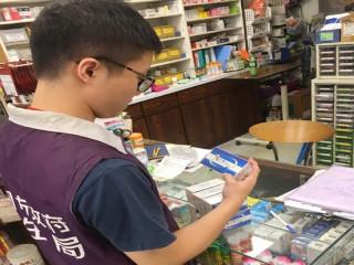 桃園市政府衛生局人員全面進行「金十字胃乳液」下架稽查作業。