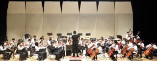 草屯國中管弦樂團每場演出都獲滿堂采。( 草中提供)