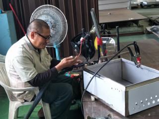 朴子就業中心協助阿新求職永不放棄,焊出美麗陽光