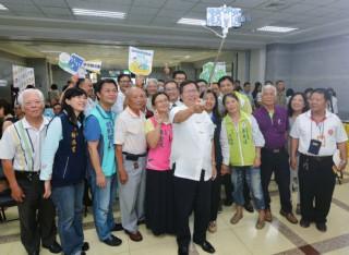 桃園市長鄭文燦出席「106年桃園樂活重陽季」啟動記者會。