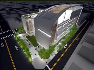 桃園區東門公有零售市場完工模擬圖。
