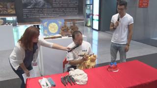 粉線雕獨創工法 新北職人分享傳統技藝