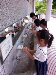 衛生局為降低腸病毒對幼兒學童的危害,持續推動波段防疫感控作為。(圖/記者郭文君攝)