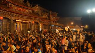 客家平安大戲巡演現場民眾熱烈迴響。