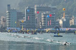 中華民國游泳協會23日在日月潭舉辦Chinese Taipei第三屆日月潭公開水域游泳錦標賽。