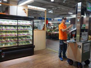 板橋果菜批發市場今年9月開辦全臺首創有機蔬果拍賣。(圖/記者黃村杉攝)