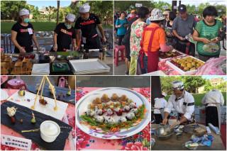 2017東區客家美食料理比賽,香味四溢。(圖/宜蘭縣政府提供)