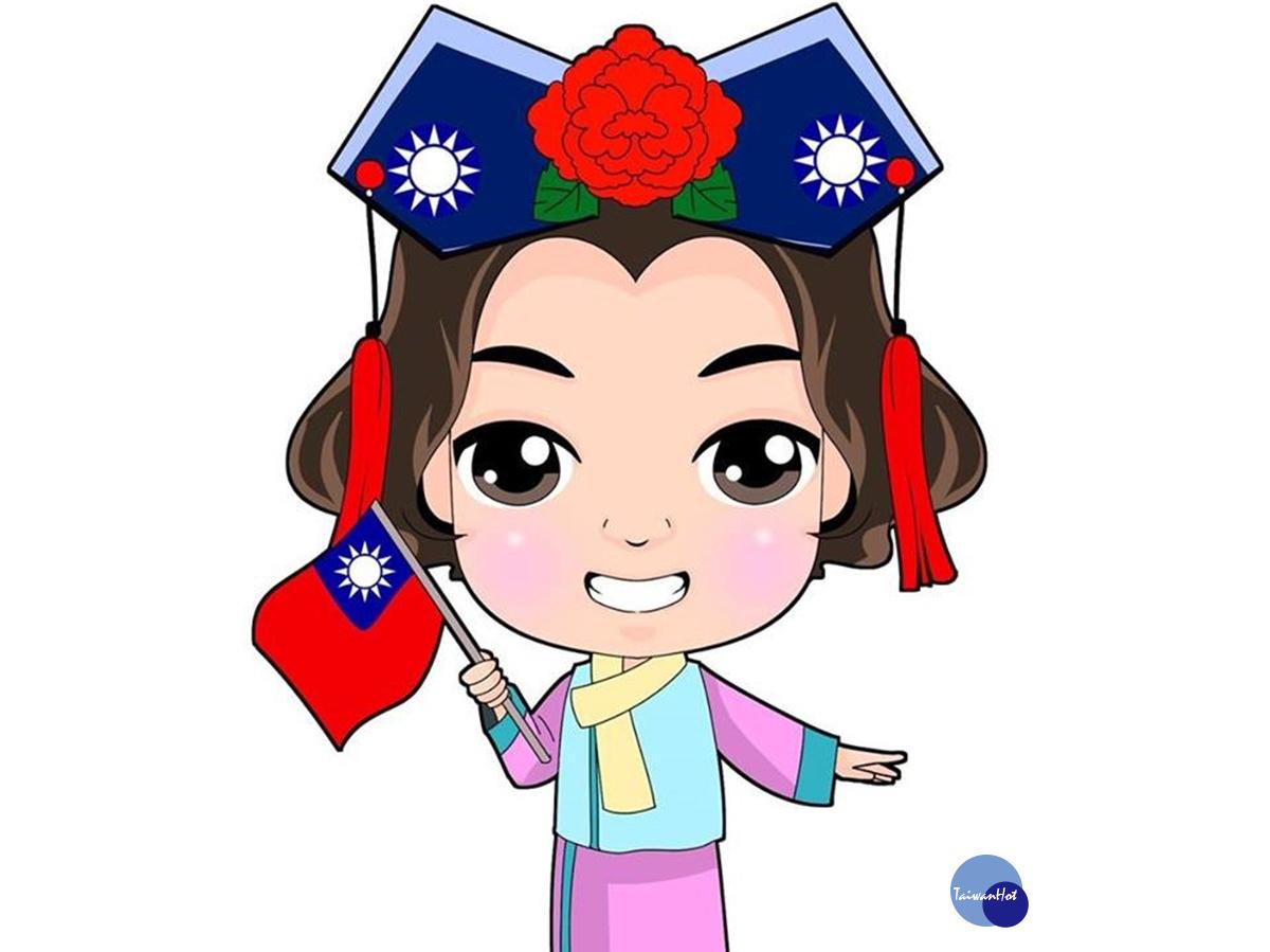 國旗黨旗造型亮眼 藍營桃市候選人楊麗環推卡哇伊貼圖