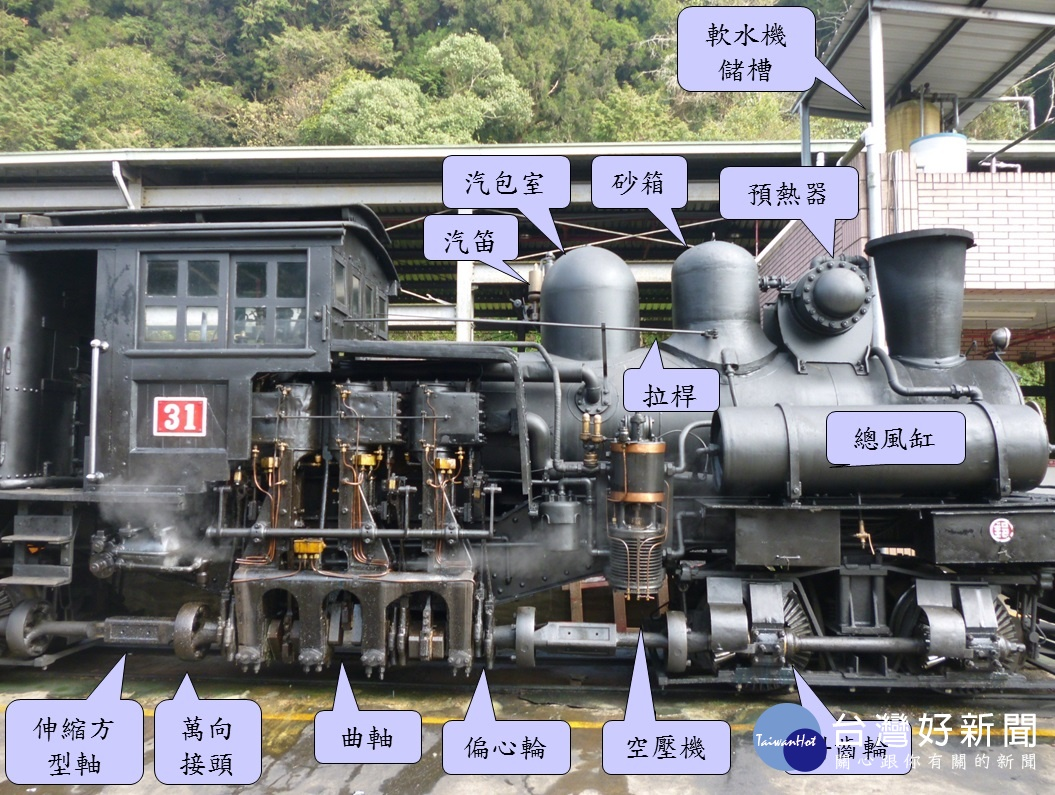 阿里山鐵路與切尼赫榮鐵路合作 推蒸汽火車交流