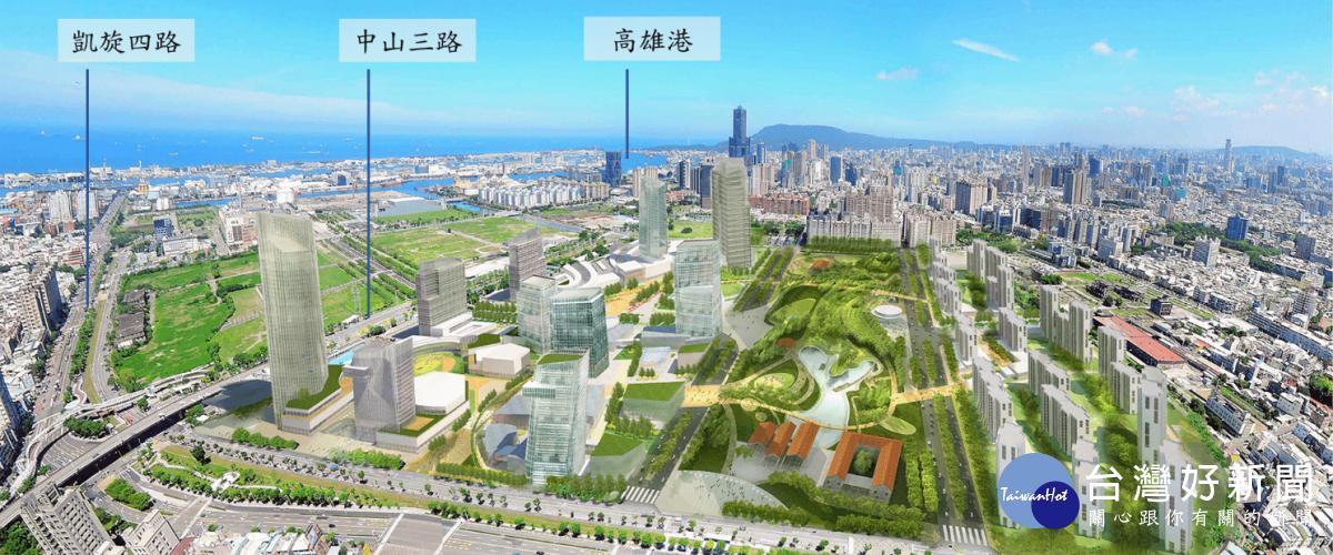 205兵工廠遷廠後土地開發模擬圖(高雄市政府都市發展局提供)。