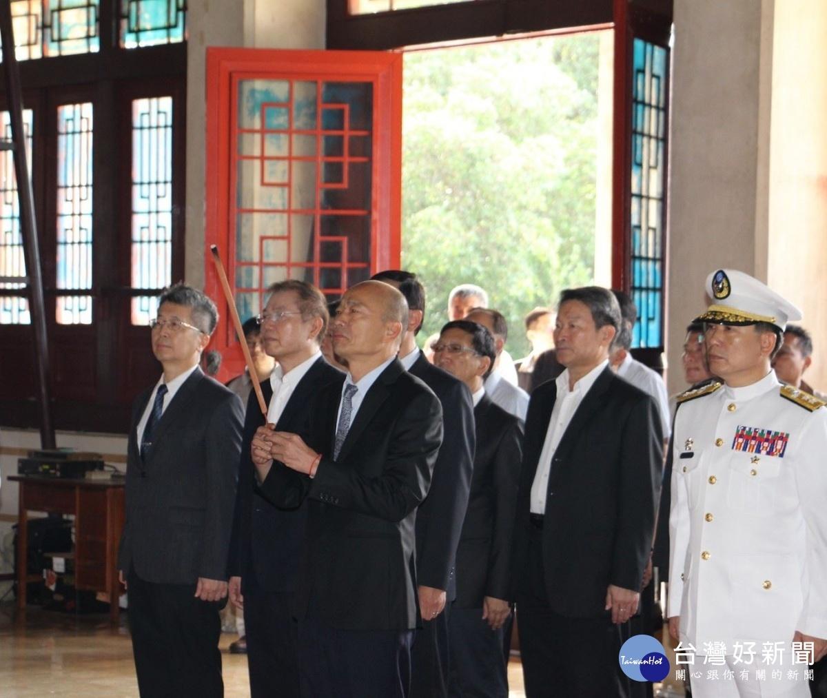 高雄市長韓國瑜出席壽山忠烈祠秋祭國殤典禮並擔任主祭。