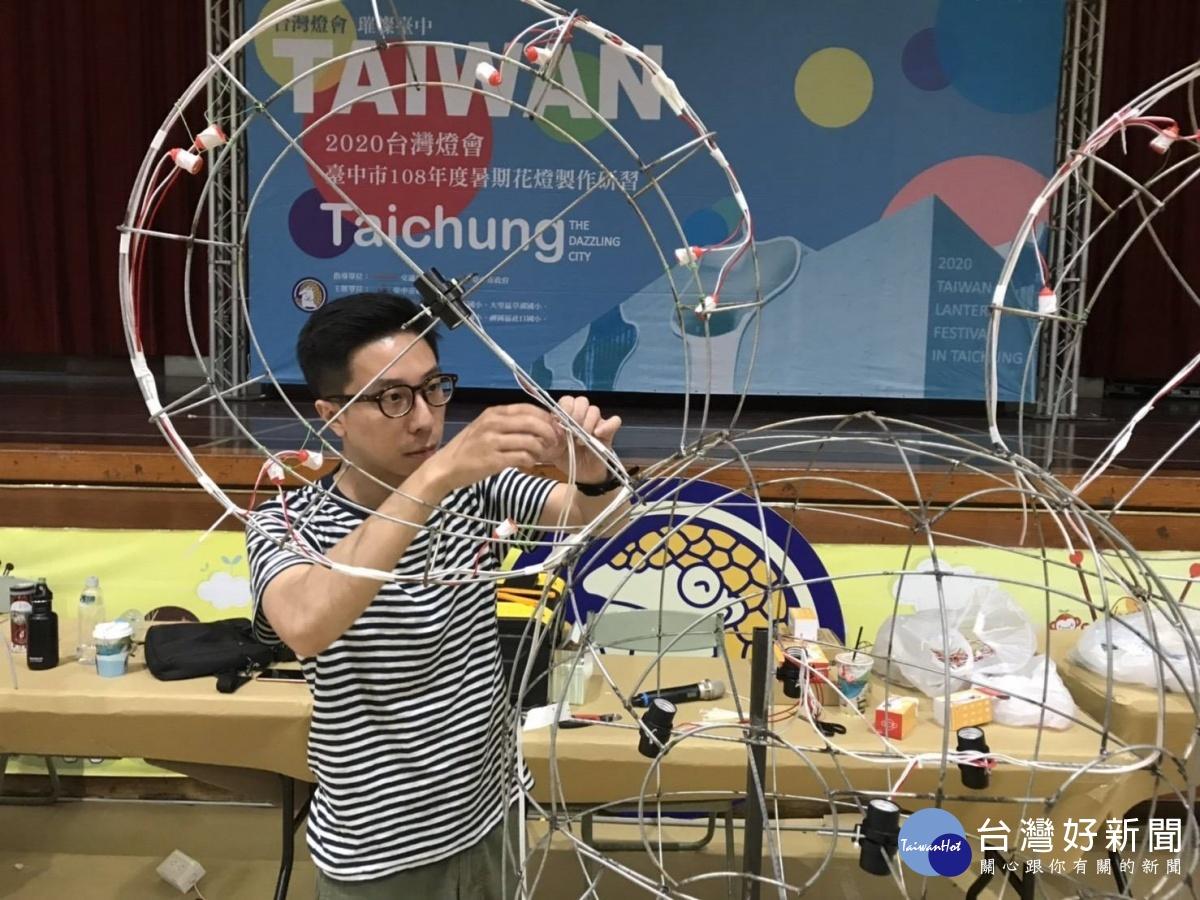 中市舉辦花燈製作研習 傳統技藝向下紮根