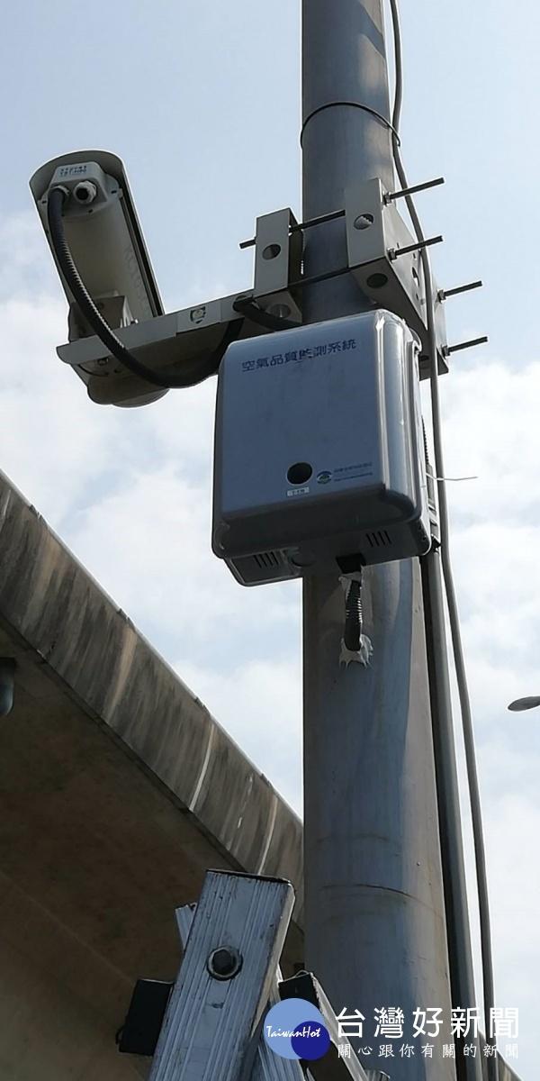 高市空氣品質微型感測器施工完成照。