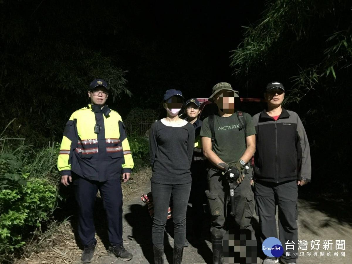 民眾尋找愛犬迷失山區 警消合作成功救援