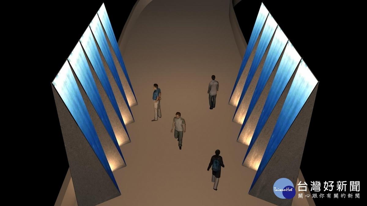 手染藝術家何佳豫 首次挑戰5.5公尺大型藍染藝術創作