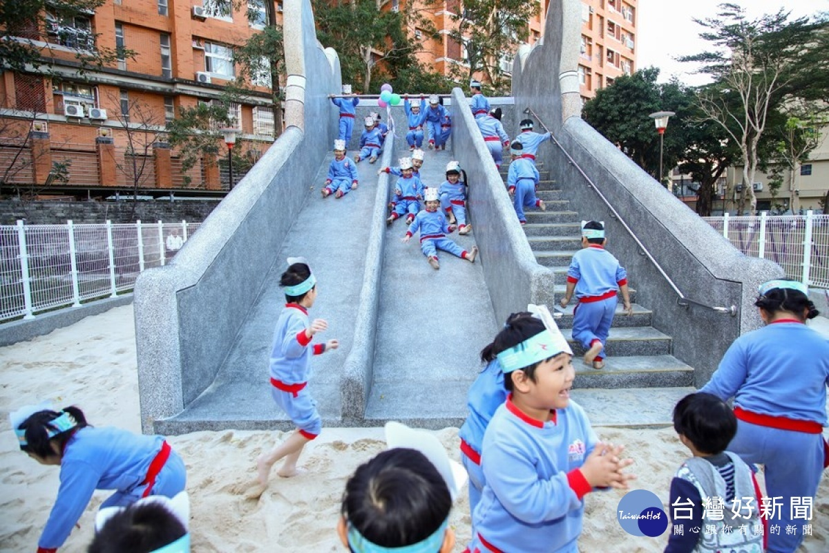 中市永興公園整建面積倍增 新穎遊樂設施孩童樂開懷