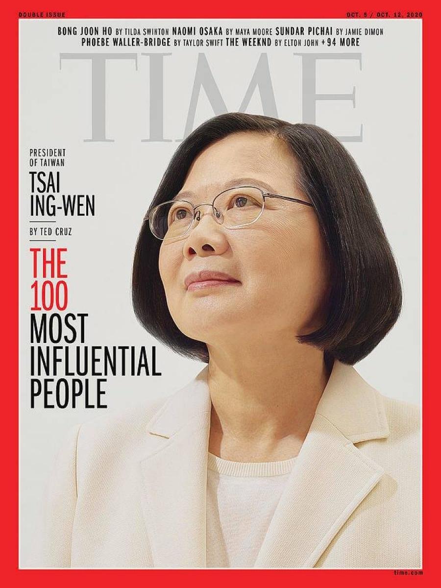 獲選《時代》百大人物 小英:所有台灣人的成就