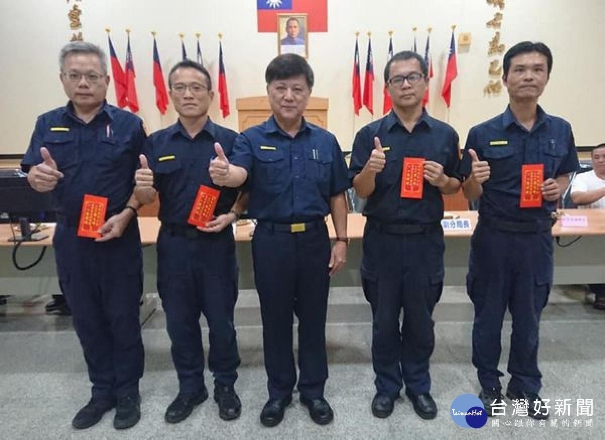 秋節鼓勵與祝福 台西警友頒獎表揚績優員警